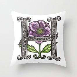 Hellebore Throw Pillow