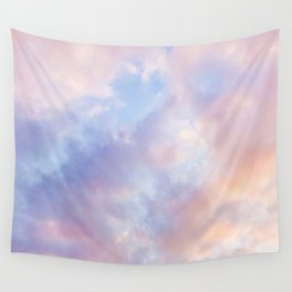 cotton candy clouds Wall Tapestry