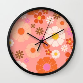 Groovy 60's Mod Flower Power Wall Clock