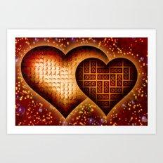 Lego Love - 162 Art Print