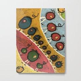 Abstract Walking Olives Metal Print