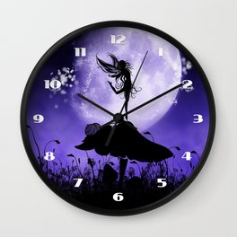 Fairy Silhouette 2 Wall Clock