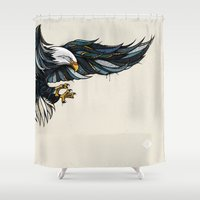 eagle Shower Curtains featuring Eagle by Andreas Preis
