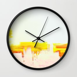 Abstract Landscape, Modern Southwest, Minimal Desert Wall Clock