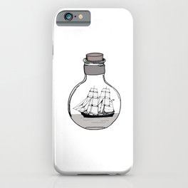 The ship in the glass bulb . Art . iPhone Case