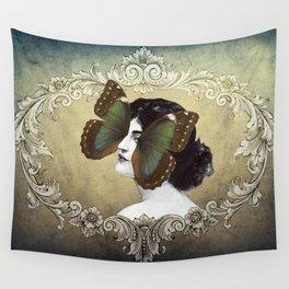 La Femme Papillon Wall Tapestry