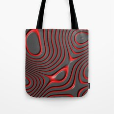 Organic Abstract 01 RED Tote Bag