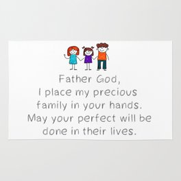 Christian,Bible Quote,Place my Family in God's hand Rug