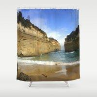 evolution Shower Curtains featuring Australia's Evolution by Chris' Landscape Images & Designs