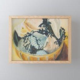 Basket of Shells Framed Mini Art Print