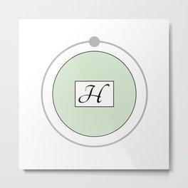 Hydrogen - Bohr Model Metal Print