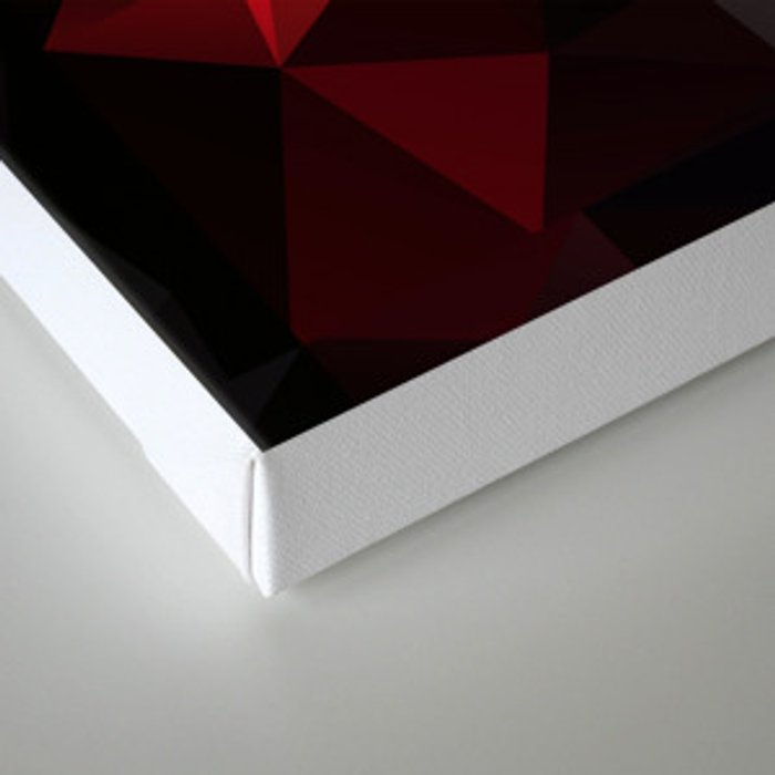 Polygon red black triangles . Canvas Print