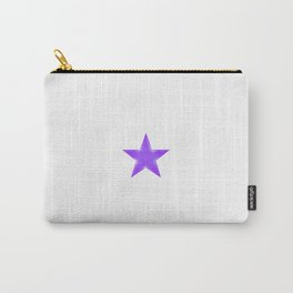 Purple Star on White Carry-All Pouch
