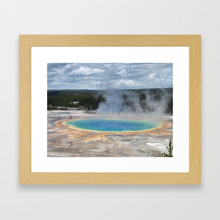 Grand Prismatic Springs,Yellowstone Framed Art Print