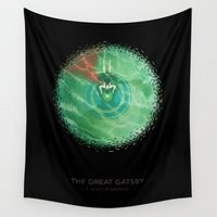 gatsby Wall Tapestries featuring The Great Gatsby by Christian Jackson