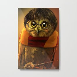 the owl who lived Metal Print