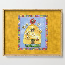 Busy Bees with Border Serving Tray