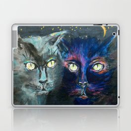 They Meet in the Night (Cats) Laptop & iPad Skin
