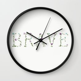 Brave The Storm Wall Clock