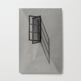 Window - BW Metal Print