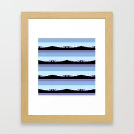 Abstract mountains horizons 2 Framed Art Print