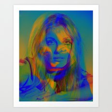 Sharon the blue mix Art Print