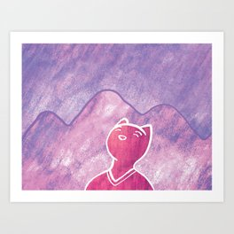 Mountain Cat Art Print