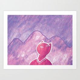 Mountain Cat Art Print