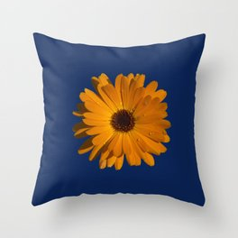 Orange power flower Throw Pillow