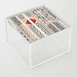 Tribal ethnic geometric pattern 034 Acrylic Box