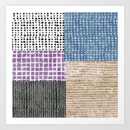 Primavera Mixed Pattern Art Print