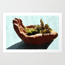 Bush in the Hand Art Print