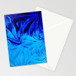 PETAL PINWHEELS - Deep Indigo Blue Royal Blue Turquoise Floral Pattern Swirls Ocean Water Flowers Stationery Cards