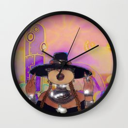 S. Cheeks in Formation Wall Clock