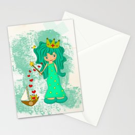 green princess Stationery Cards