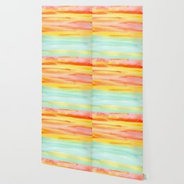 Summer Sunset Abstract Painting Stripes Pattern Modern - Be Yourself And Fall In Love Wallpaper