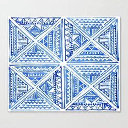 Geo tile art Canvas Print