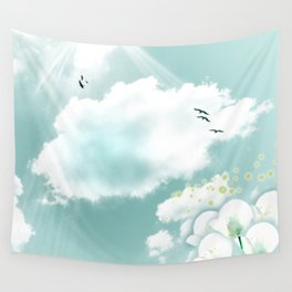 look at the sky Wall Tapestry