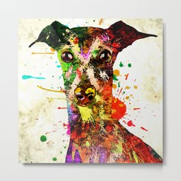Greyhound Portrait Metal Print