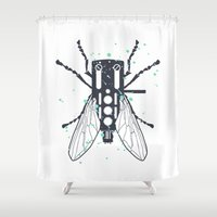 deadmau5 Shower Curtains featuring Cartridgebug by Sitchko Igor