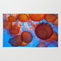 jelly fish Area & Throw Rugs featuring Jelly Fish by Shannon McCullough-Wight