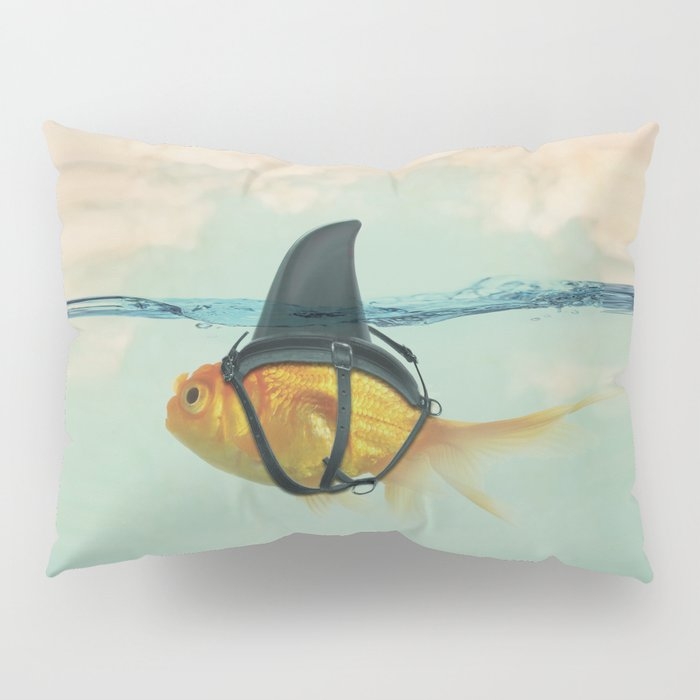 Brilliant DISGUISE - Goldfish with a Shark Fin Pillow Sham