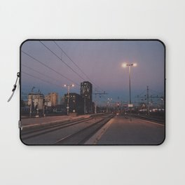 Sunset railway town Laptop Sleeve
