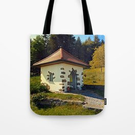 Small chapel up on the mountain Tote Bag