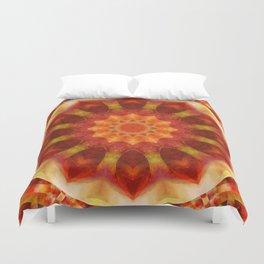 Mandala orangered Duvet Cover