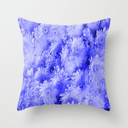 Periwinkle Floral Garden Throw Pillow