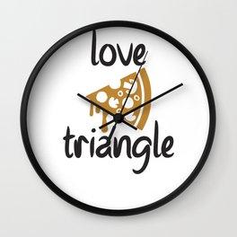 Funny Pizza Love Triangle Wall Clock