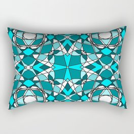 Teal Stained Glass 1 Rectangular Pillow