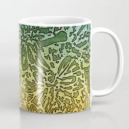 Marigold Lino Cut, Gradient Coffee Mug