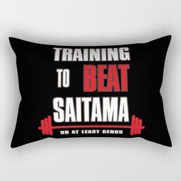 Training to beat saitama Rectangular Pillow